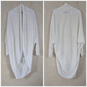 Genuine Theory Long Curved Cardigan White, Small